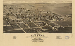 E66 - Birds Eye View of Luverne County Seat of Rock County Minnesota - 1883