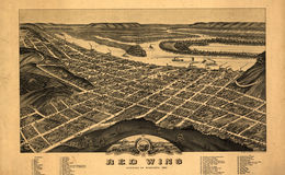 E66 - Panoramic view of the City of Red Wing Goddhue Co Minnesota - 1880