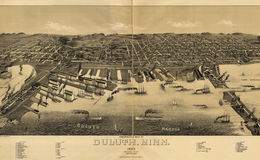 E66 - Perspective Map of Duluth Minnesota - 1887